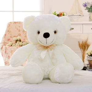 Newest 30/50/80cm Creative Light Up LED Teddy Bear Stuffed Animals Plush Toy Colorful Glowing Teddy Bear Christmas Gift for Kids