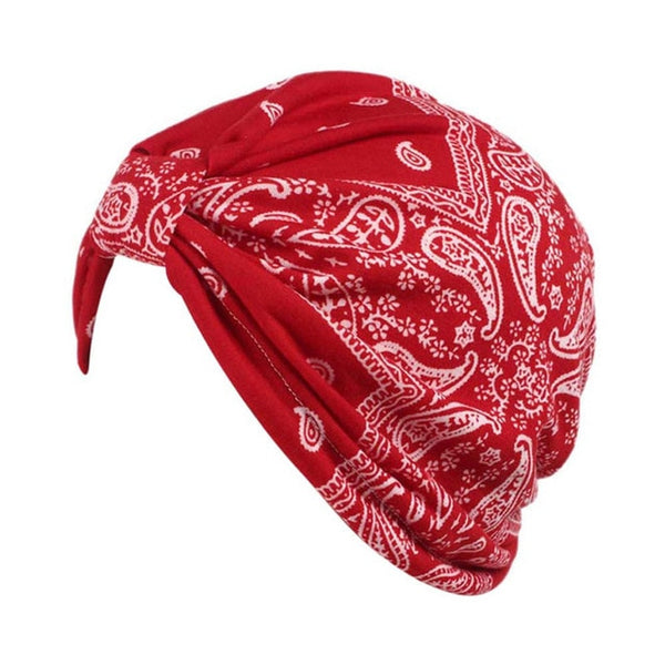 Summer Bandanas Women Indian Muslim Stretch Turban Headwear Bonnet Lady Chemo Hair Warp Beanie Headcover Hijib Headband Jun27
