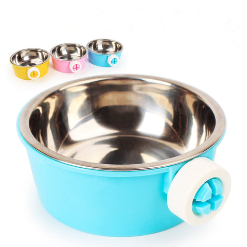 Hanging Type Stainless Steel Dog Bowl Pet Supplies Small Bowl for Dog Cage Poodle  for Dog Small Dog Bowls Pet Accessories