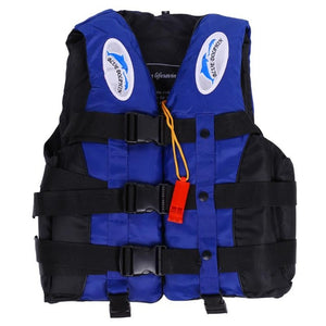 Water Sports Polyester Adult Life Jacket Universal Outdoor Swimming Boating Ski Drifting Vest Survival Suit With Whistle S-XXXL