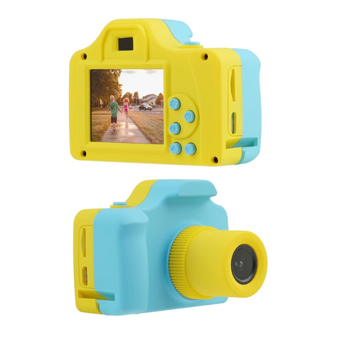 1.77 Inch Digital Camera Kids Full Color Mini LSR Cartoon Camcorder Video Recorder Kids Learning Photograph Toys Support TF Card