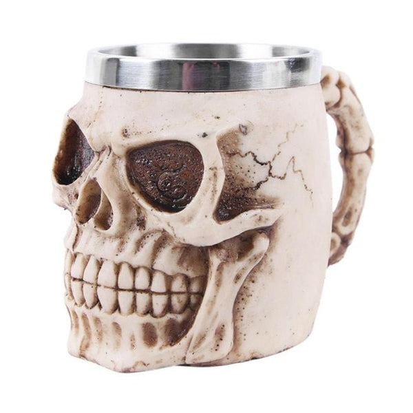 VKTECH Resin Skull Retro Wine Glass Model Toys for Children Vintage Cocktail Glasses Whiskey Beer Wine Cup Halloween Decorations