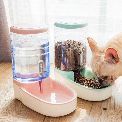 3.8L Dog feeder bowl cat drinking automatic pet Food dispenser bottle for dogs  Large Capacity Pet Supplier