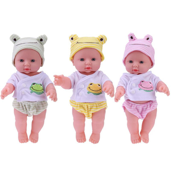 30cm Newborn Baby Doll Toy Soft Vinyl Silicone Lifelike Babies Simulation Doll Toys for Kids Girls Birthday Gift Educational Toy