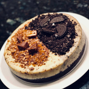 2-in-1 Snickers and Oreo Cheesecake
