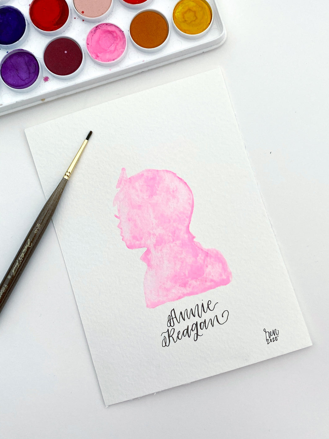 Watercolor Silhouette