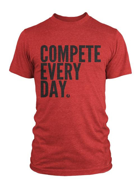 Compete Every Day Classic Men's T-Shirt - Red