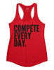 Compete Every Day Classic Women's Tank - Red