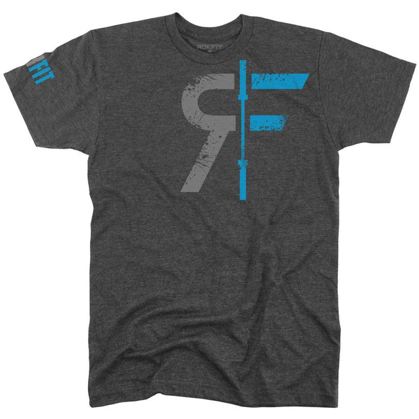 RokFit The Original Logo Shirt - Heather Charcoal