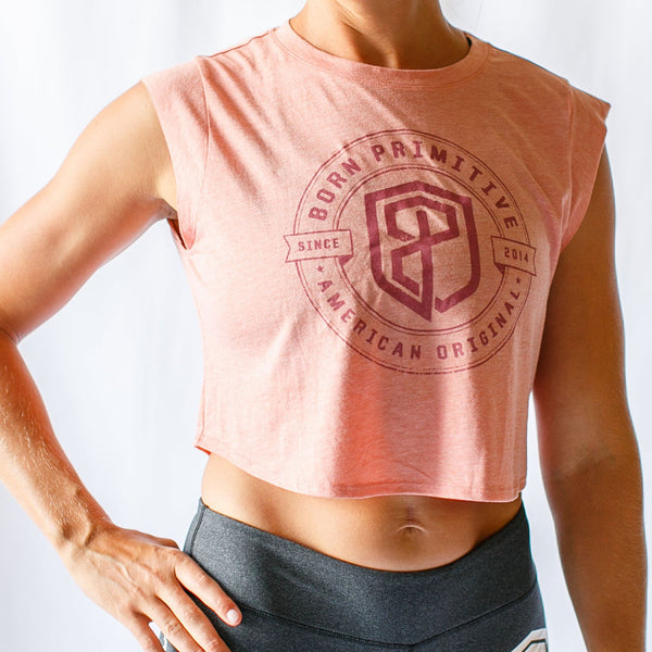 Born Primitive Festival Cropped Tank - Sunset