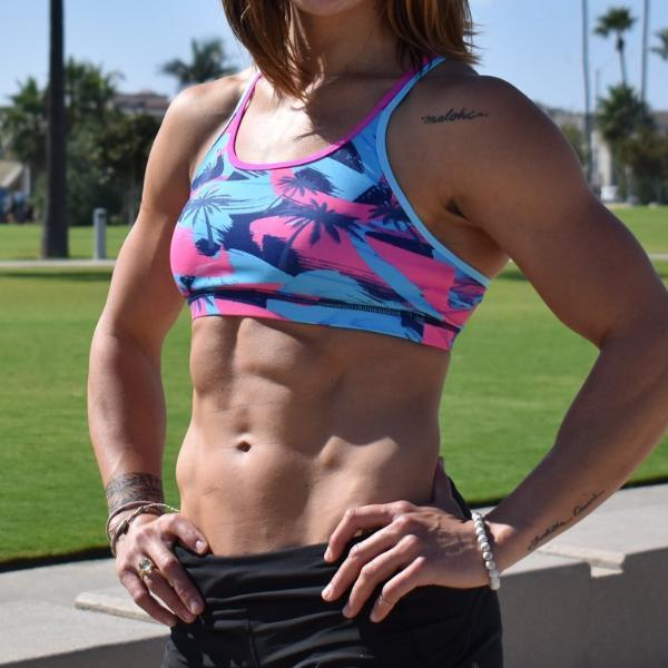 Born Primitive Warrior Sports Bra - WZA Edition Pink Palm