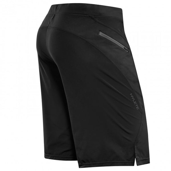 Hylete Verge II Flex-Woven Zip Pocket Short - Black