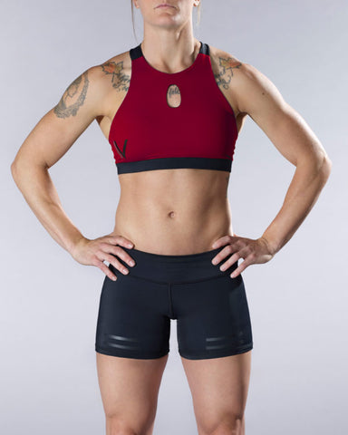 VullSport Compress Shift Sports Bra - Maroon