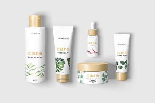 Cosmetic Product Branding Kit Design