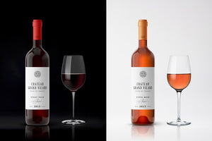 Wine Bottle Product Branding Design