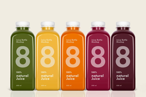 Juice Bottle Product Branding Design
