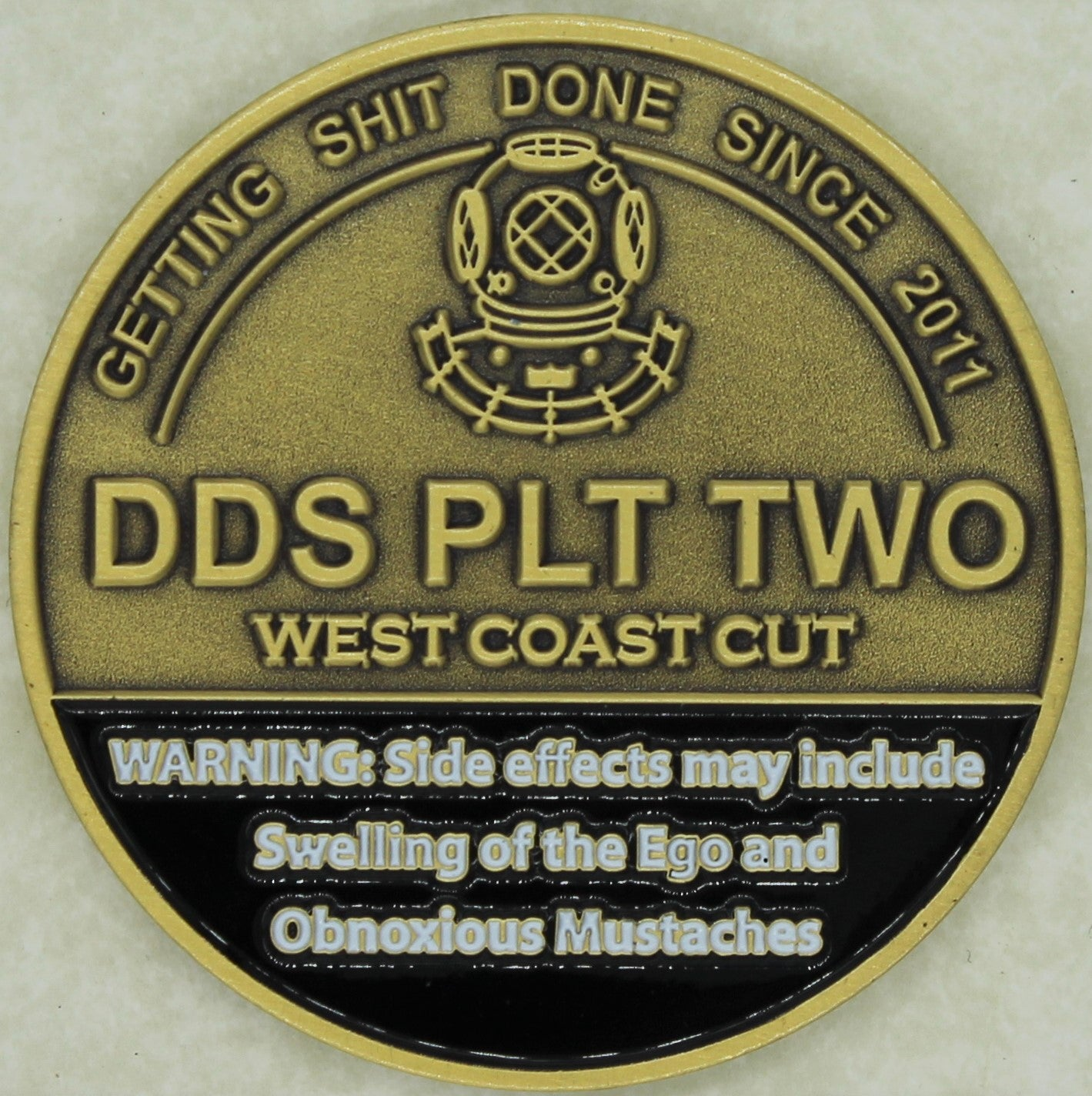 SEAL Delivery Vehicle Team 1 SDVT-1 DDS Platoon II Navy Challenge Coin