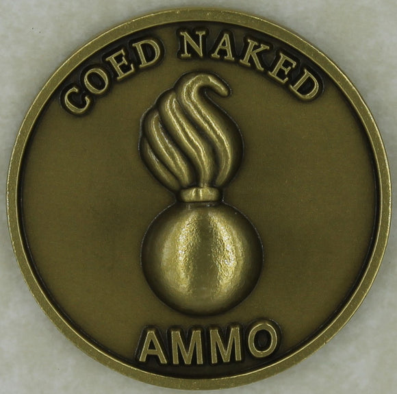 Ammo Coed Naked Comes With A Bang Air Force Challenge Coin