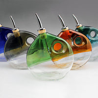 Hand Blown Glass Olive Oil Dispenser Boise Art Glass LDP Imports