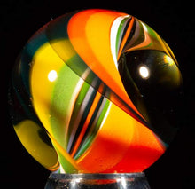 Load image into Gallery viewer, Aaron Slater Glass Art Marble Ribbon Core Orb