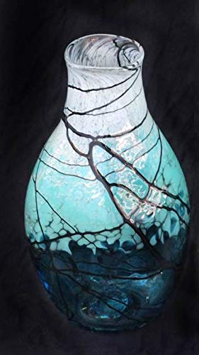 Handblown Glass Lightning Bottle Vase