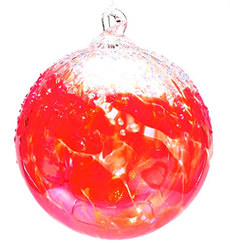 Tom Stoenner Hand Crafted Ice Cap Ornament Red