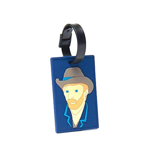 Luggage Bag tag Vincent Van Gogh Self-portrait with Grey Felt Hat