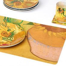Load image into Gallery viewer, Van Gogh Placemat Placemat Sunflowers 4 Pack