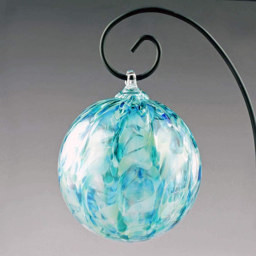 Boise Art Glass Hand Crafted Stormy Seas Ornament