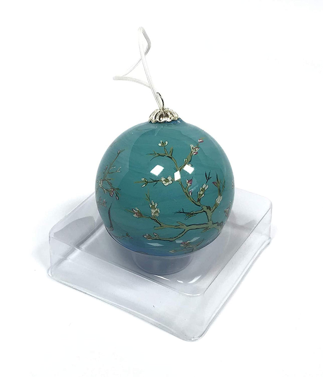 Vincent Van Gogh Glass Ornament Almond Blossom Hand Painted