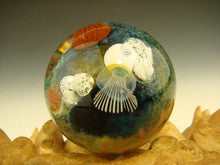 Load image into Gallery viewer, Vortex Glassworks Coral Reef Ocean Glass Art Marble with Jellyfish Implosion Ocean Orb Aaron Slater VGW (Ready to Ship).