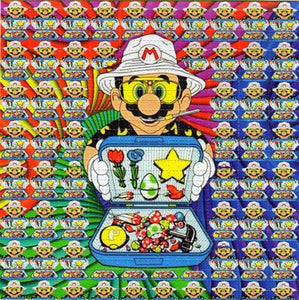 Gdabs Psychedelic Blotter Art Print Perforated Sheet/Paper 30x30 - Mario Design