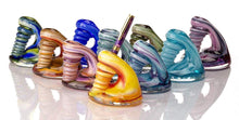 Load image into Gallery viewer, Handblown Glass Pen Holder Rainbow Mix