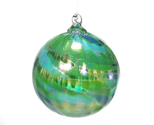 Tom Stoenner Hand Crafted Ice Cap Ornament Green