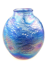 Load image into Gallery viewer, Tom Stoenner Hand Crafted Oval Vase (Blue)