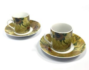 Vincent Van Gogh Espresso set Sunflowers (2 pack)