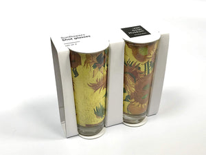 Van Gogh Shot Glasses Sunflowers Design - 2 pack
