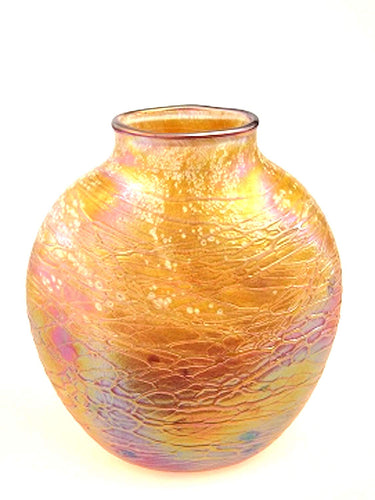 Tom Stoenner Hand Crafted Oval Vase (Gold)