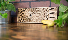 Load image into Gallery viewer, Phillip Roberts Wooden Hand Crafted Wood Wall Art 16x6in. - Dahlia Design
