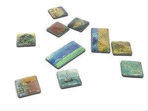 Vincent Van Gogh Glass Mini magnet set