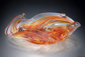 Handblown Glass Square Bowl