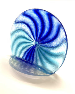 Handblown Glass Business Card Holder Color, Blue/Green