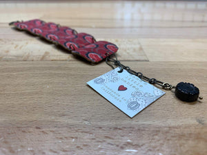 Russian Red Floral Bracelet