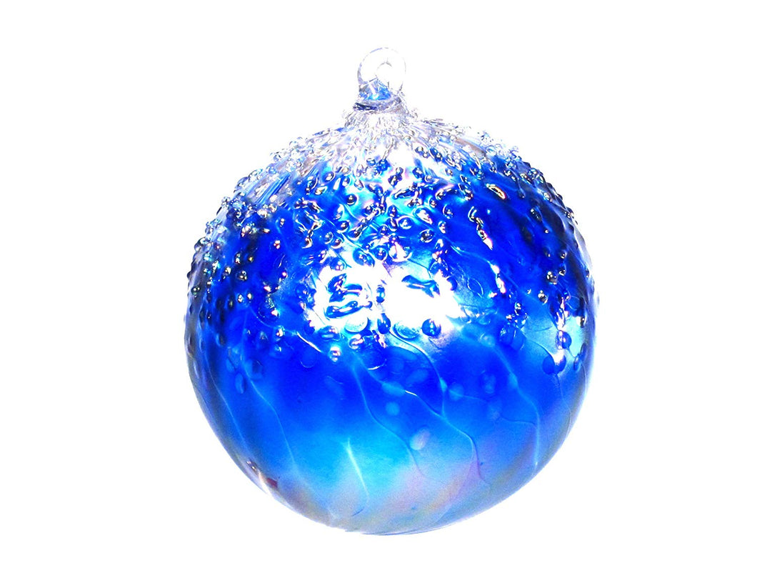 Tom Stoenner Hand Crafted Ice Cap Ornament Blue