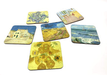 Load image into Gallery viewer, Van Gogh Coaster set Highlights
