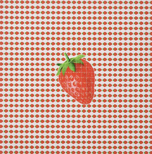 Gdabs Psychedelic Blotter Art Print Perforated Sheet/Paper 30x30 - Strawberry Design