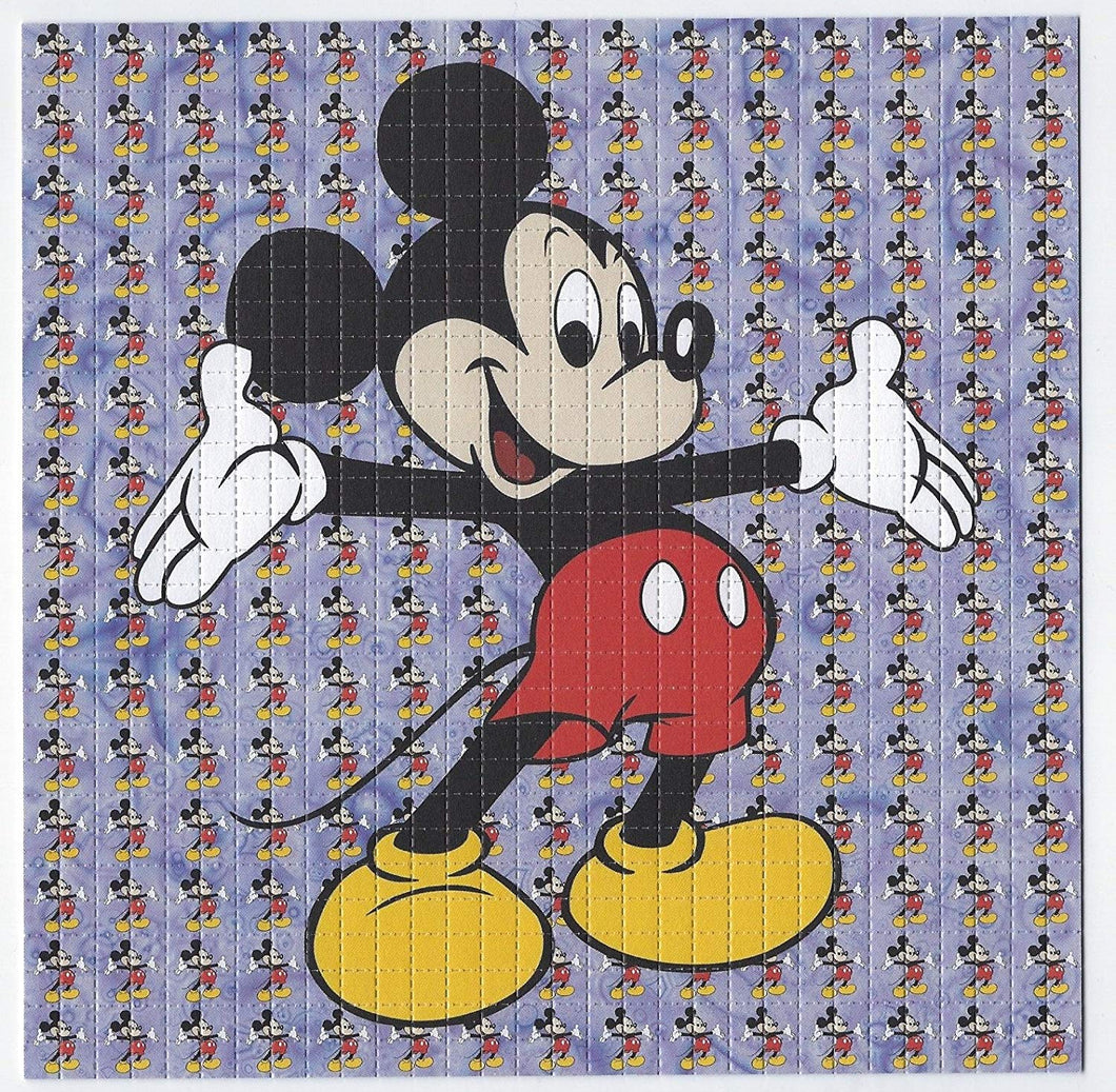Gdabs Psychedelic Blotter Art Print perforated sheet/paper 30x30 - Mickey Mouse 3 Design