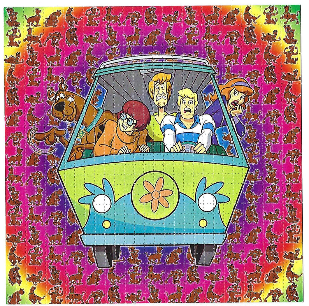 gdabs Psychedelic Blotter Art Print Perforated Sheet/Paper 30x30 - Scooby Doo Design