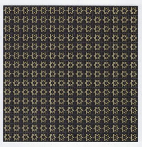 Gdabs Psychedelic Blotter Art Print perforated sheet/paper 30x30 - Jewish Star Design