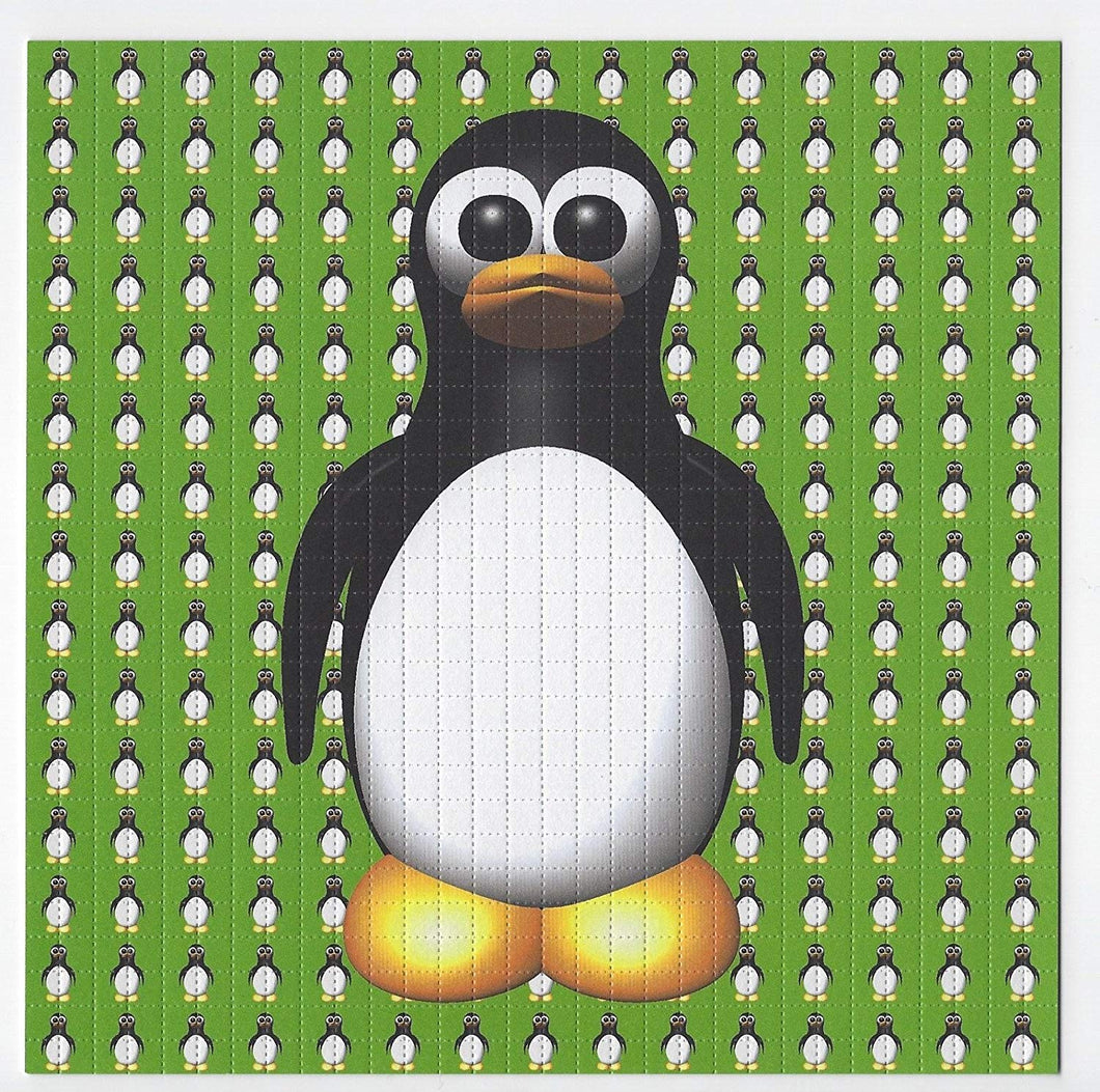 Gdabs Psychedelic Blotter Art Print perforated sheet/paper 30x30 - Penguin Design
